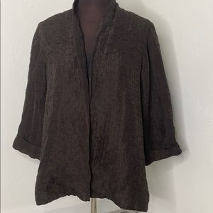 Eileen Fisher silk linen blazer